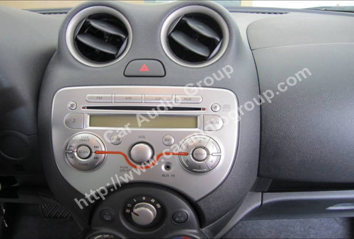 Nissan March original car audio installation guide #00001